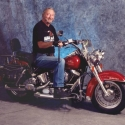 Pat on his Harley